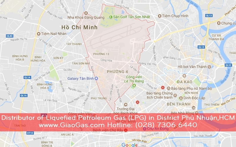 Distributor of Liquefied Petroleum Gas (LPG) in District Phu Nhuan, Ho Chi Minh City, Hotline (028) 7306 6440
